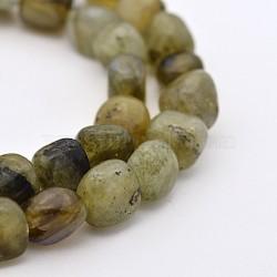 Chapelets de perles en labradorite naturelle, nuggets, 5~7mm, trou: 5~7 mm; environ 1(G-P070-23)