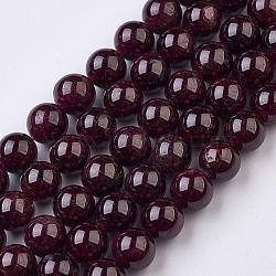 """Chapelets de perles de grenat naturel, rond, 8mm, trou: 1mm; environ 49 pcs/chapelet, 15.1"""" (38.5 cm)(G-J376-37-8mm)"""