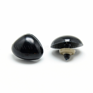 Craft Plastic Doll Noses, Black, 15x20mm; Pin: 5~6mm(X-KY-R072-14A)