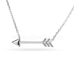 """Tinysand® flèches d'argent sterling pendentif colliers chics, argenterie, 17""""(TS-N019-S-18)"""