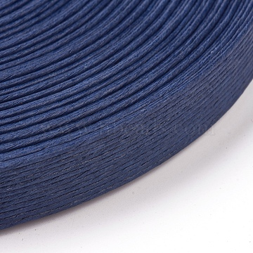 Paper Ribbons, for Rattan Woven Making, 12-Ply, Marine Blue, 15.5mm, about 20m/roll(OCOR-WH0032-22B)