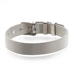"""Bandes de montre en laiton, platine, 8-1/4"""" (21cm) ~ 9"""" (23cm), 12mm(KK-N192-01P)"""