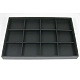Stackable Wood Display Trays Covered By Black Leatherette(X-PCT106)-1