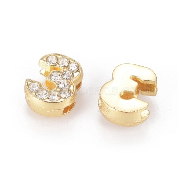 Golden Clear Alloy + Rhinestone Charms