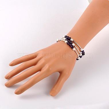 Natural Gemstone Wrap Bracelets(BJEW-JB01705-04)-2