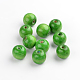 Green Wood Round Chunky Beads for Jewelry Making(X-TB20mmY-7)-1