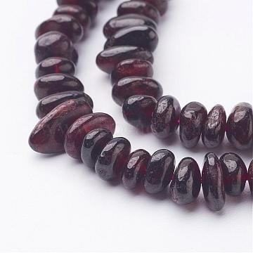Natural Garnet Beads Strands, Chips, 6~12x5~8mm, Hole: 1mm; about 16 inches(X-G-J234-15)