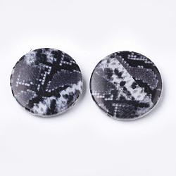 Perles acryliques imprimées, plat rond, slategray, 25x5.5mm, trou: 1.8 mm; environ 215 pcs / 500 g(OACR-S022-14E)