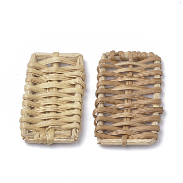 40mm BurlyWood Rectangle Others Beads