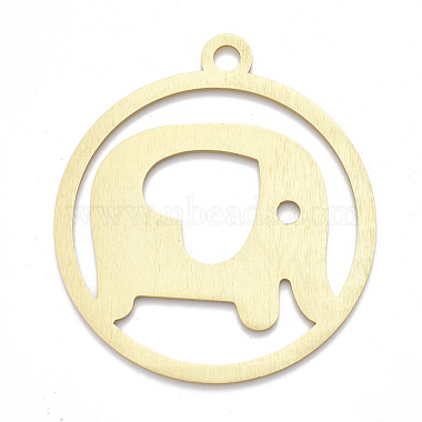 Golden Flat Round Aluminum Big Pendants