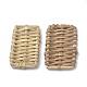 Handmade Reed Cane/Rattan Woven Beads(X-WOVE-Q075-09)-1
