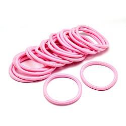 Les accessoires de cheveux de fille, fil de nylon attaches de cheveux de fibre élastique, pearlpink, 44 mm(X-OHAR-J022-17)