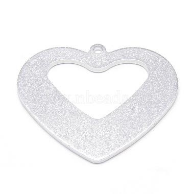 Silver Heart Aluminum Pendants