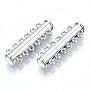 Platinum Brass Slide Lock Clasps(KK-Q740-19P)