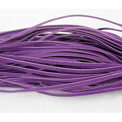 Cordon de laine, darkorchid, 3x1 mm; 1 m / brin, 250strands(LCW-002Y-51)