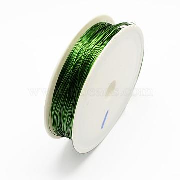 Iron Wire, Dark Green, 26 Gauge, 0.4mm, about 39.37 Feet(12m)/roll, 10 rolls/set(MW-R001-0.4mm-04)