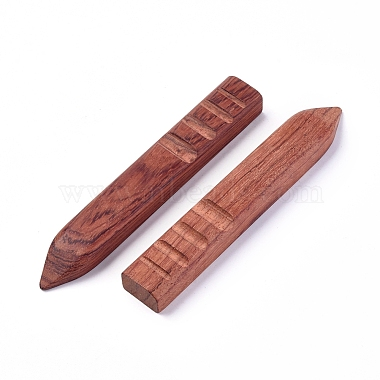 Natural Rosewood Leather Craft Slicker(TOOL-WH0119-64)-2