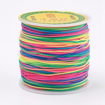 0.8mm Colorful Polyester Thread & Cord