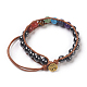 Synthetic Hematite Cord Beaded Bracelets(BJEW-E351-02K)-2