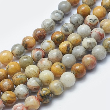 8mm Round Crazy Agate Beads