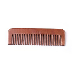 Sandalwood Tooth Comb, Saddle Brown, 16.8x5.4x1cm(MRMJ-WH0051-01)