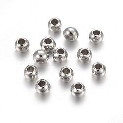 CCB perles en plastique, rondelle, platine, 4x3mm, Trou: 1.6mm(CCB-F016-10P)