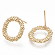 Brass Stud Earrings(X-KK-S348-366)-2