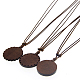 Waxed Polyester Cord Pendant Necklace(NJEW-I103-04A)-2