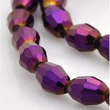 6mm Rice Electroplate Glass Beads