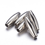 Stainless Steel Color Oval Stainless Steel Clasps(X-MC088)