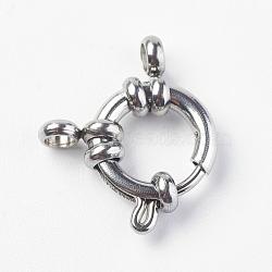 304 пружинные кольца из нержавеющей стали с гладкой поверхностью, нержавеющая сталь цвет, 15x12x4 mm, отверстия: 2.5 mm(STAS-O114-003C-P)