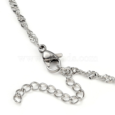 304 Stainless Steel Singapore Chain Necklaces(NJEW-JN02930-01)-3