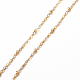 304 Stainless Steel Cable Chain Necklaces(NJEW-F201-01G)-2