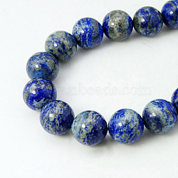 Natural Lapis Lazuli Beads Strands, Round, RoyalBlue, 4mm, Hole: 0.8mm; about 95pcs/strand, 15.7inches