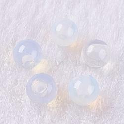 Perles d'opalite, la moitié foré, arrondir, 8 mm, trou: 1 mm(X-G-K275-27-8mm)