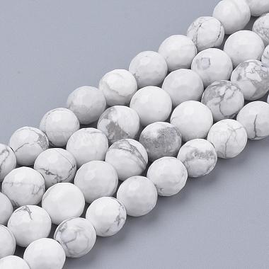 4mm Round Howlite Beads