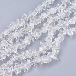 """Chapelets de perle en pierre de cristal de quartz naturel, puce, clair, 4~10x4~6x2~4mm, trou: 1mm; environ 210 pcs/chapelet, 35.4""""(G-R192-02)"""
