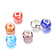 Rondelle Lampwork Large Hole European Beads(LPDL-R003-01)-1
