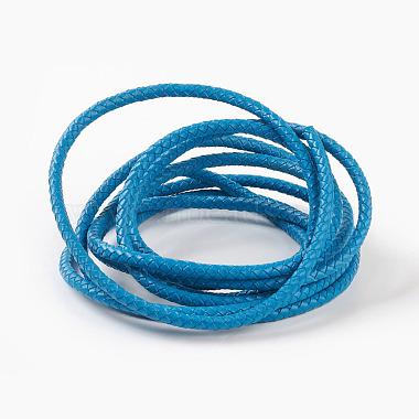 6mm DeepSkyBlue Leather Thread & Cord
