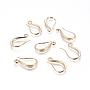 Golden Brass Earring Hooks(X-KK-G365-17G)