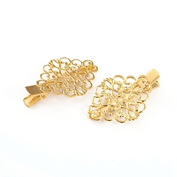 Iron Hair Alligator Hair Clips, Golden, 44x30.5x9.5mm(X-IFIN-I032-05G)