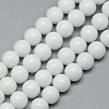 6mm White Round Glass Beads