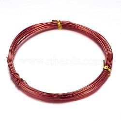 алюминиевая проволока, красный, 20 датчик, 0.8 mm, 10 м / рулон(AW-D009-0.8mm-10m-23)