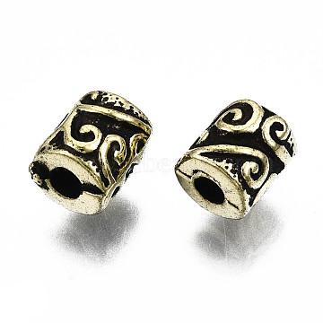 Antique Acrylic Beads, Column, Antique Bronze, 7x6mm, Hole: 2mm; about 3680pcs/500g(PACR-Q085-12AB)