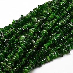 "Diopside naturel perles de puce brins, 5~14x4~10mm, trou: 1 mm; environ 15.5""~16.1""(G-E271-94)"