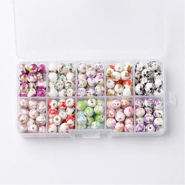 8mm Mixed Color Round Porcelain Beads