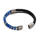 Leather Cord Bracelets(BJEW-E273-02M)-3