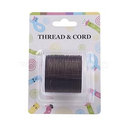 Chaîne de cristal élastique plat, fil de perles élastique, pour la fabrication de bracelets élastiques, coconutbrown, 0.8 mm; 60 m / rouleau(X-EW-O001-01A)