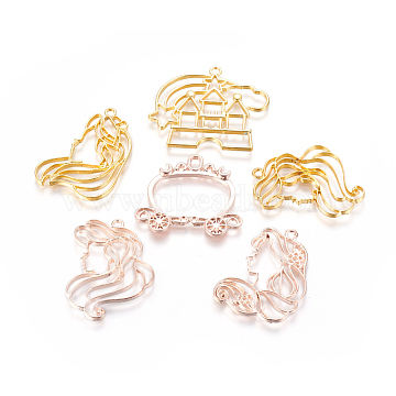 Golden & Rose Gold Mixed Shapes Alloy Pendants