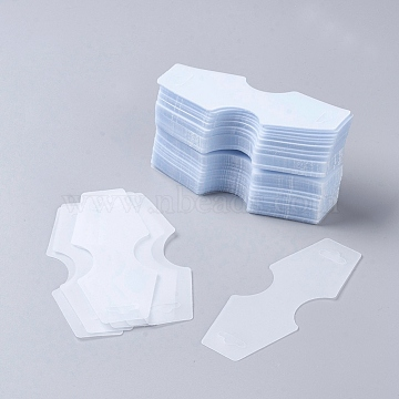 Plastic Display Card, used for Necklace, Bracelet, Pendant and Barrette, about 124mm long, 48mm wide(X-JPC194Y)